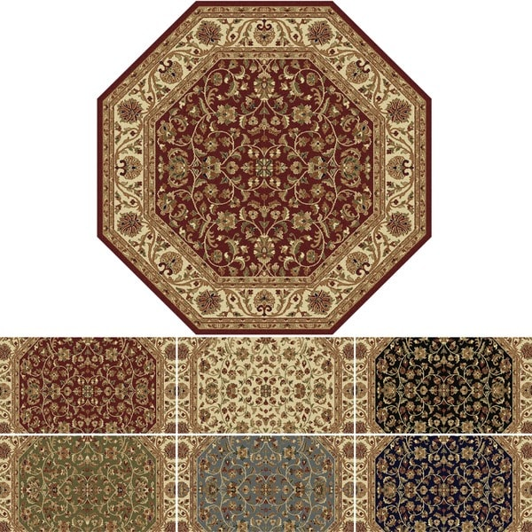 Octagonal Foyer Rug : Alise soho octagon transitional area rug