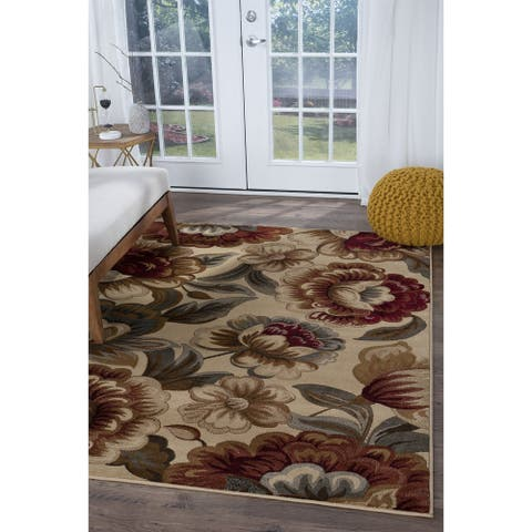 Alise Rugs Infinity Transitional Floral Area Rug - 5'3 x 7'3 - 5'3 x 7'3