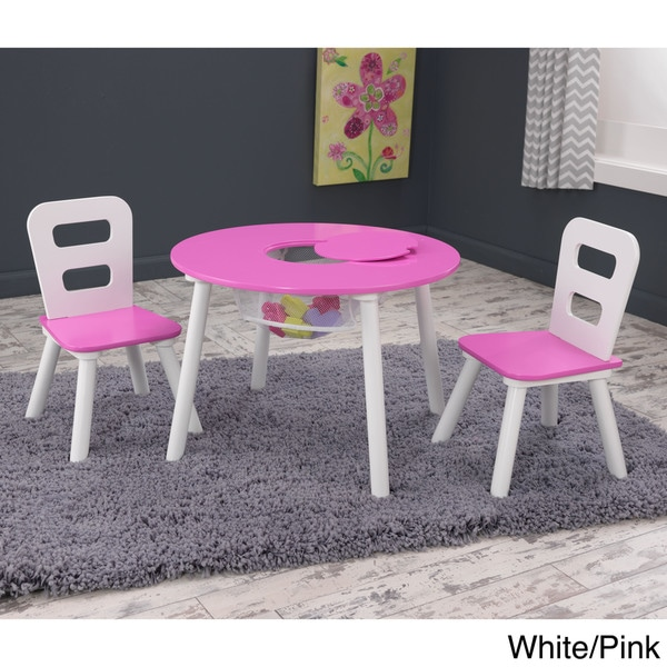 KidKraft 3 Piece Round Table And Chair Set