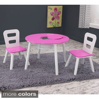 KidKraft 3-piece Round Table and Chair Set & Shop Sprout Kidu0027s 3-piece Table and Chairs Set - On Sale - Free ...