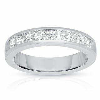 Eloquence 14k White Gold 1ct TDW Princess-cut Diamond Women's Wedding Band (G-H, I1-I2)