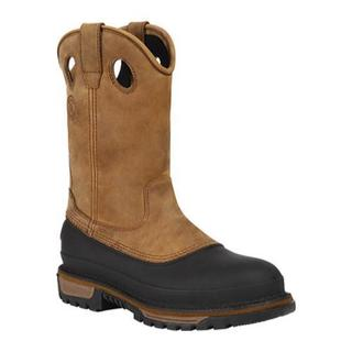 Men's Georgia Boot G5594 11in Muddog Pull-On Steel Toe Georgia Brown (More options available)