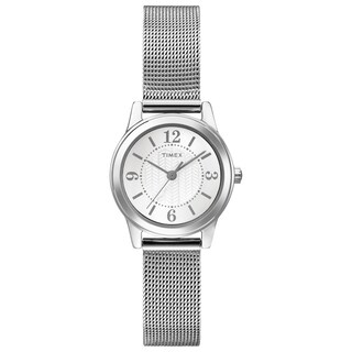 Timex Women's T2P457 Casey Dress Silver-Tone Stainless Steel Mesh Bracelet Watch