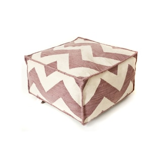 Link to Handmade Chevron Lavender Polyester Ottoman Similar Items in Outdoor Sofas, Chairs & Sectionals