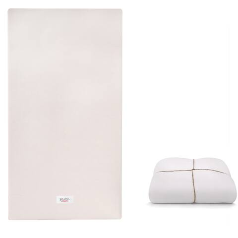 Babyletto Pure Core Non-Toxic Crib Mattress with Smart Cover - White