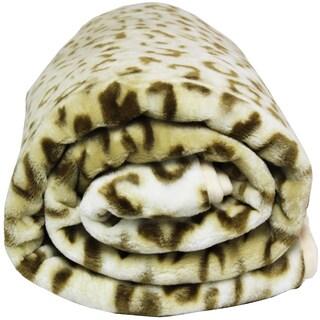 Clara Clark Leopard Print Raschel Blanket