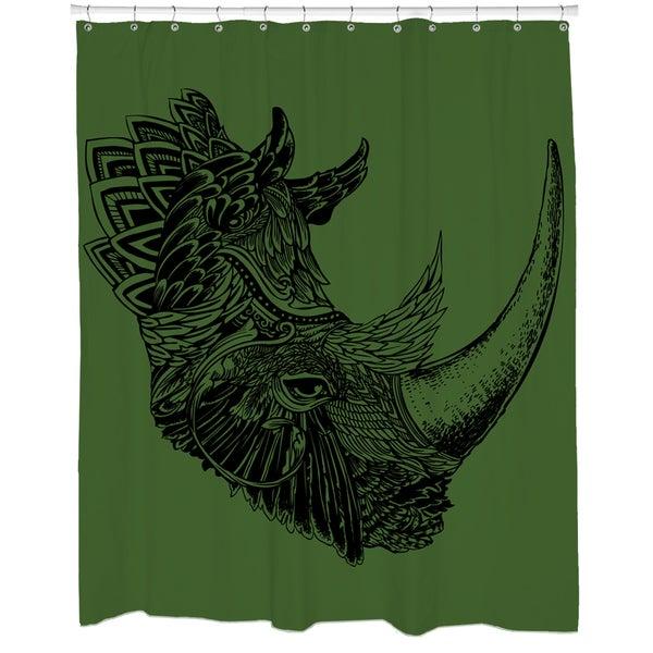 Rhino Chief Shower Curtain