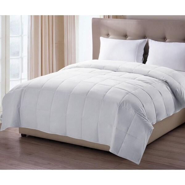 Oversized White Cotton Down Alternative Blanket