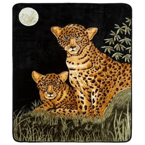 Clara Clark Midnight Cat Print Animal Blanket