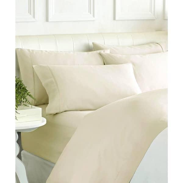 Super Quality 6 PCs Sheet Set 1000 TC Egyptian Cotton Solid Colors Queen Size