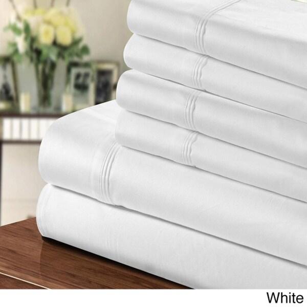 thread count egyptian cottonblend 6piece sheet set