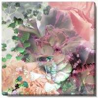 Studio Works Modern 'Pastel Royal Carnations' Fine Art Gallery Wrapped Canvas