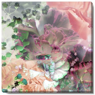 Studio Works Modern 'Pastel Royal Carnations' Fine Art Gallery Wrapped Canvas (More options available)