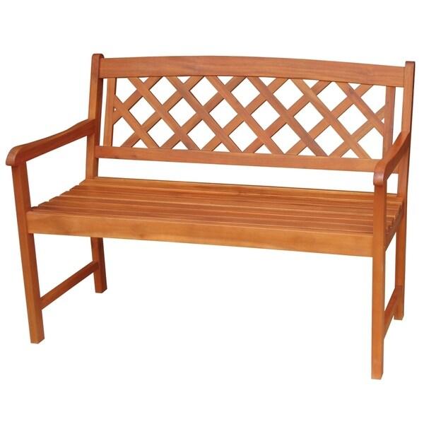 Havenside Home Ged X-back Hardwood Bench