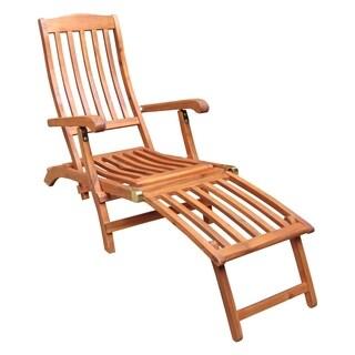 Oiled Finish Folding Steamer Chair