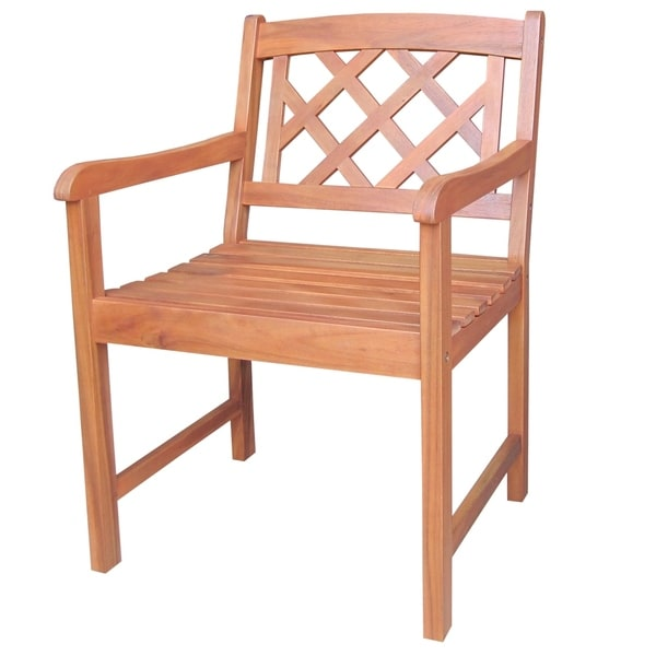 Havenside Home Ged X-back Outdoor Wood Chair