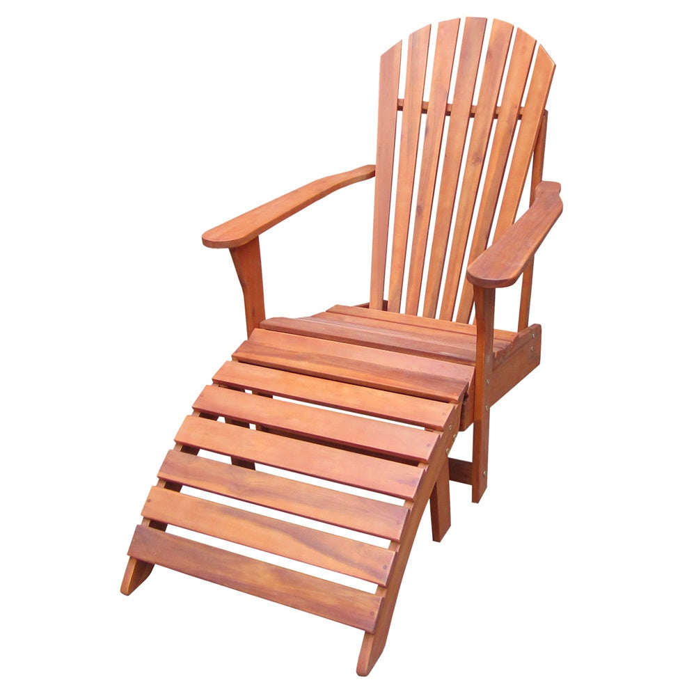 Shop 2 Piece Adirondack Chair With Footrest Set Free