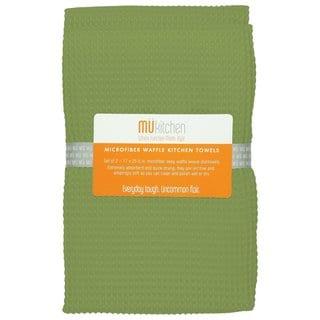 Peridot Green Waffle Microfiber Dishcloth (Set of 2)
