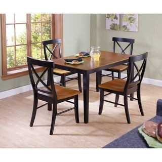 30-inch Black/Cherry Standard Height 5-piece Dining Set