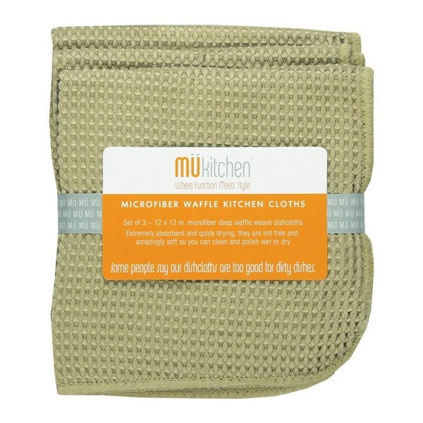 94013ee5a Shop Pebble Color Microfiber Waffle Dishcloth (Set of 3) - Free Shipping On Orders  Over $45 - Overstock - 9309919