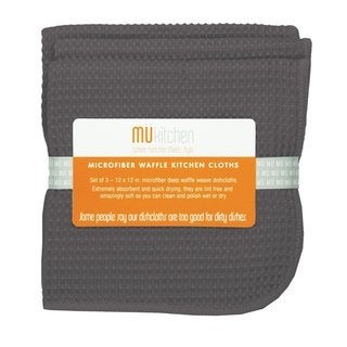 Cadet Grey Microfiber Waffle Dishcloth (Set of 3)