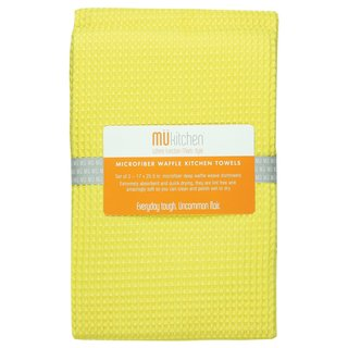 Lemon Waffle Microfiber Dishtowel (Set of 2)