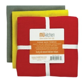 MUkitchen Cool Cotton Flour Sack Towel (Set of 3)