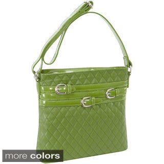 Parinda Clarice Quilted Multibelt Adorned Verticle Crossbody