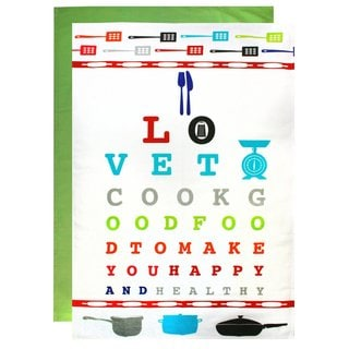 Cotton Flour Sack Eye Chart Towel (Set of 2)