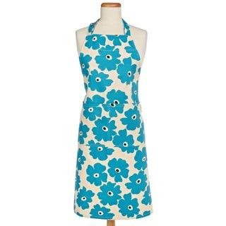 Blue Poppy Cotton Apron