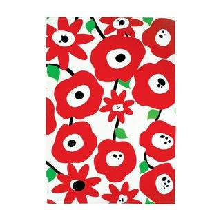 Blossom Red Cotton Kitchen Towel