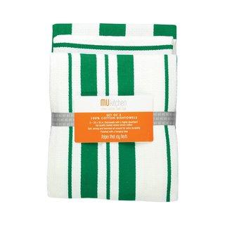 Jade Cotton Strip Dishtowel (Set of 3)