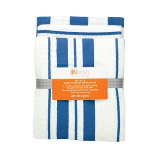 Cobalt Cotton Stripe Dishtowel (Set of 3)
