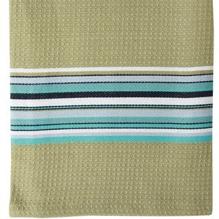 Toasted Almond Waffle Stripe Cotton Cloth (Set of 2)