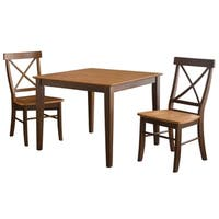 Cinnamon/ Espresso 3-piece Dining Set