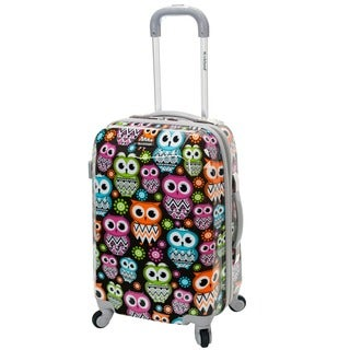 Rockland Vision Owl 20-inch Lightweight Hardside Spinner Carry-on Upright