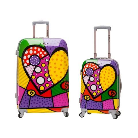 Rockland Heart 2-piece Lightweight Hardside Spinner Luggage Set