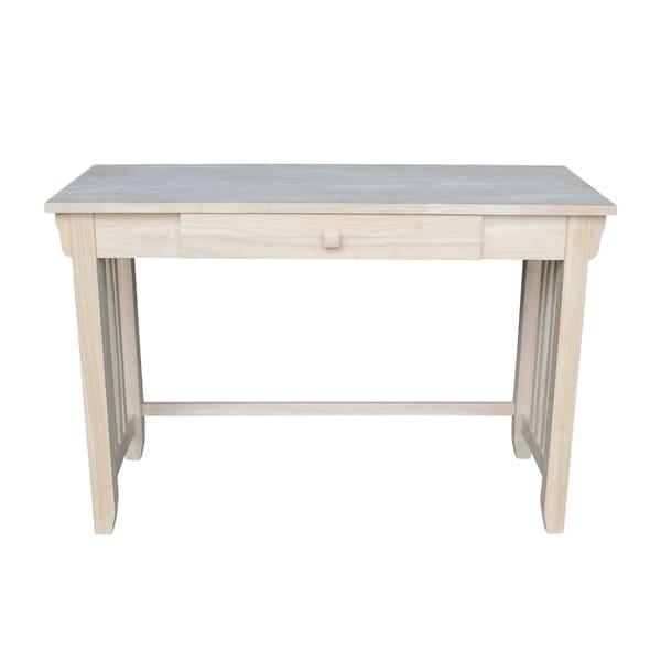 Unfinished 1-drawer Mission Desk