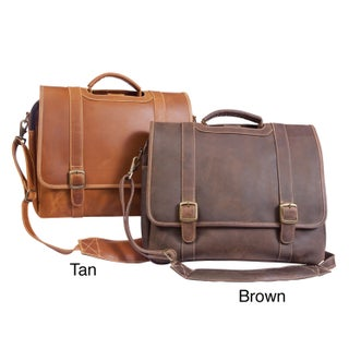 Canyon Outback Sedona 13-inch Leather Computer and iPad Messenger Brief (Option: Distressed Tan)