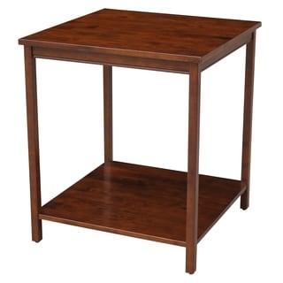 Espresso Corner Desk Extension Table