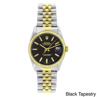 Pre-owned Rolex Men's Datejust Two-tone 18k Gold and Stainless Steel Watch (5 options available)