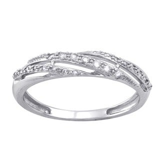 Beverly Hills Charm 10k White Gold 1/8ct TDW Diamond Band Ring