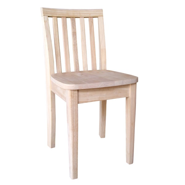 Unfinished Wood Juvenile Chair Set of 2 Free Shipping