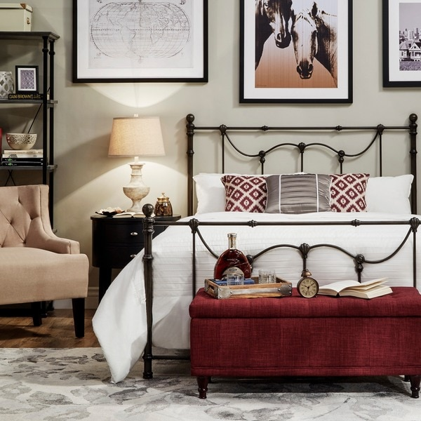 Bellwood Victorian Iron Metal Bed by iNSPIRE Q Classic - Free ...