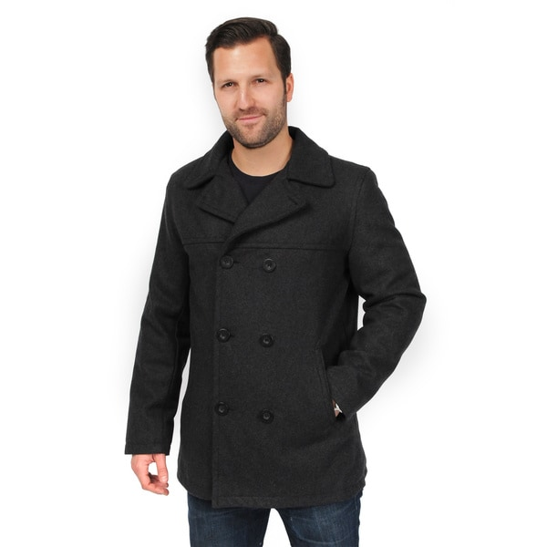 EXcelled Men&39s Double Breasted Peacoat (Extended Sizes) - Free