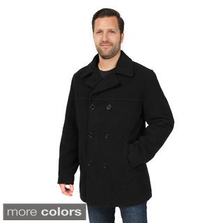 EXcelled Men's Double Breasted Peacoat (Tall Sizes)