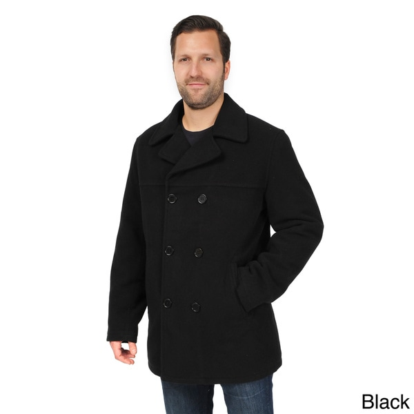 EXcelled Men's Double Breasted Tall Peacoat. Opens flyout.