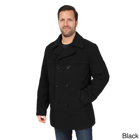EXcelled Men's Double Breasted Tall Peacoat