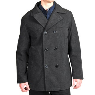 Link to Men's Wool Look Double-breasted Peacoat Similar Items in Men's Outerwear