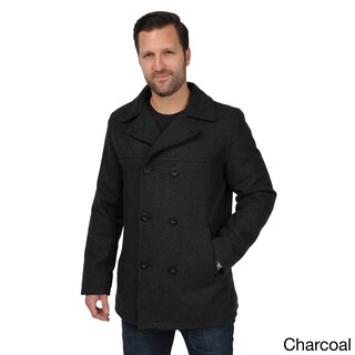 Men's Wool Look Double-breasted Peacoat (More options available)